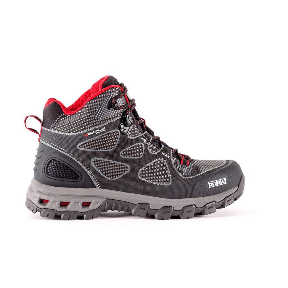 Lithium Mid Men Size 8.5(W) Black/Red Steel Toe Waterproof Athletic Work Boot