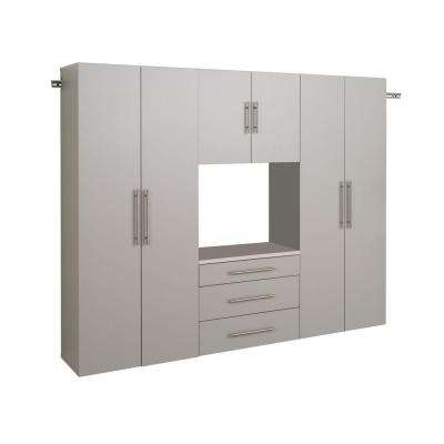 HangUps Collection Wall Mount Laminated Storage Cabinet Set G in Light Gray