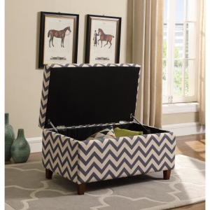 Pleasing Multi Colored Chevron Patterned Deep Storage Ottoman 91019 Caraccident5 Cool Chair Designs And Ideas Caraccident5Info