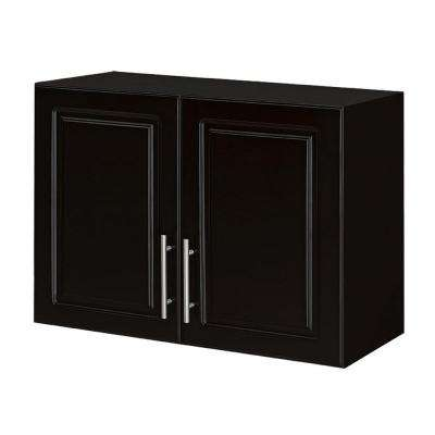 Select 16 in. D x 32 in. W x 24 in. H 2-Door MDF Wall Cabinet Wood Closet System in Espresso