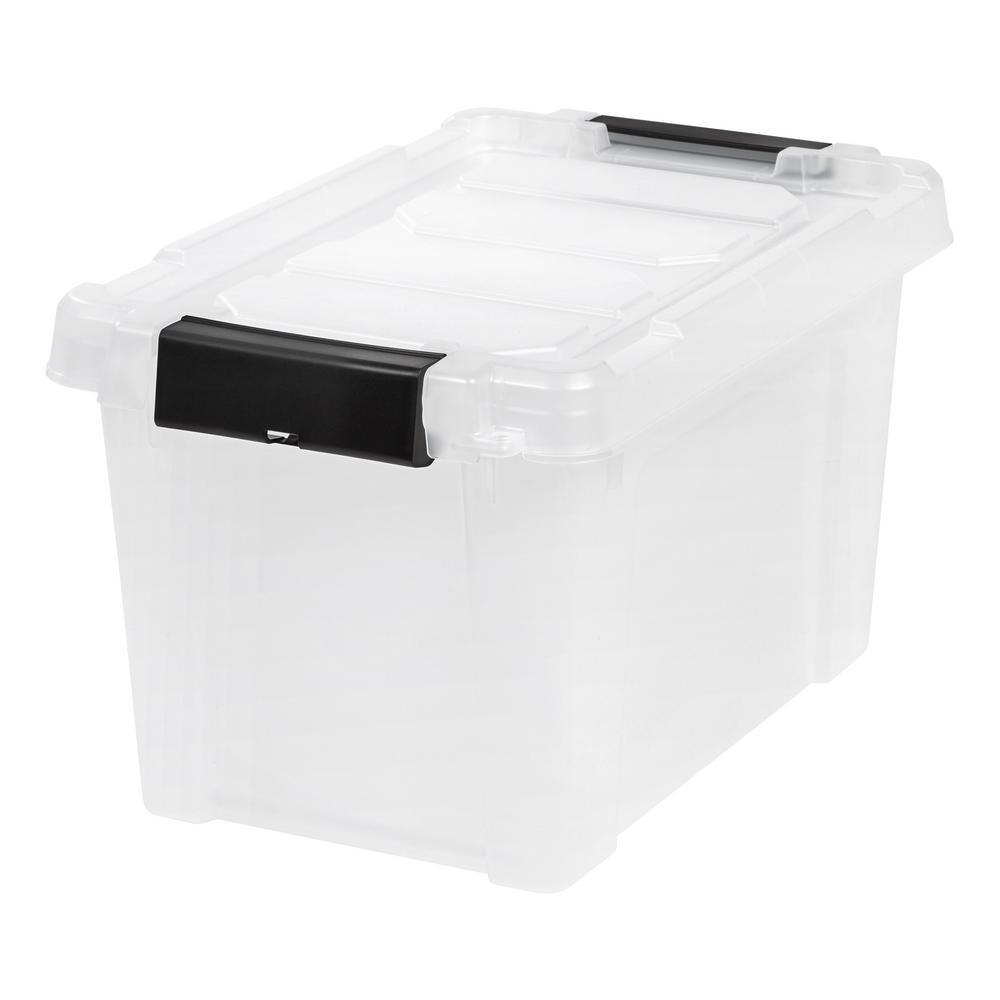 IRIS 5 Gal Store It All Storage Bin in Clear 4 Pack 586511 The