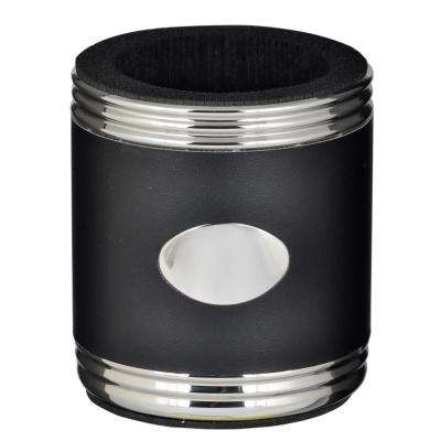 Taza Black and Stainless Steel Can Holder