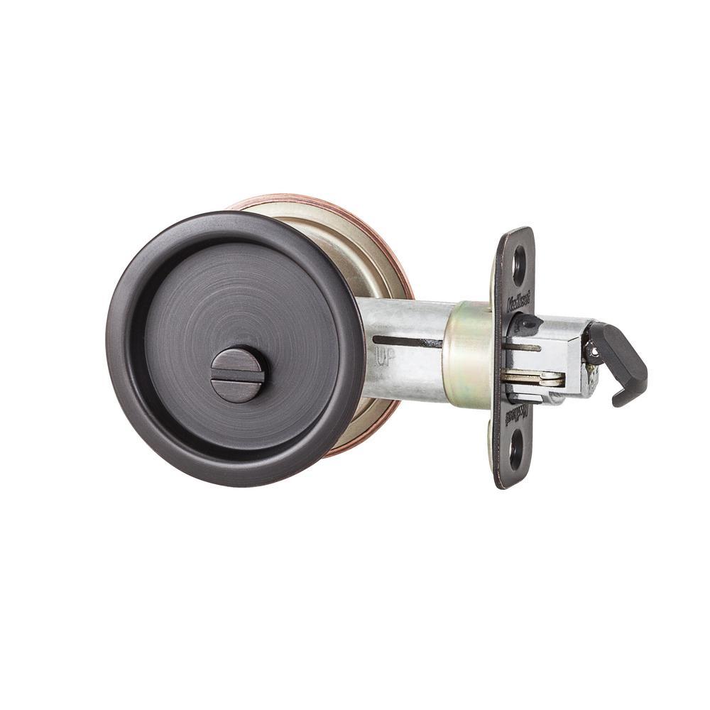 335 Privacy Venetian Bronze Round Pocket Door Lock