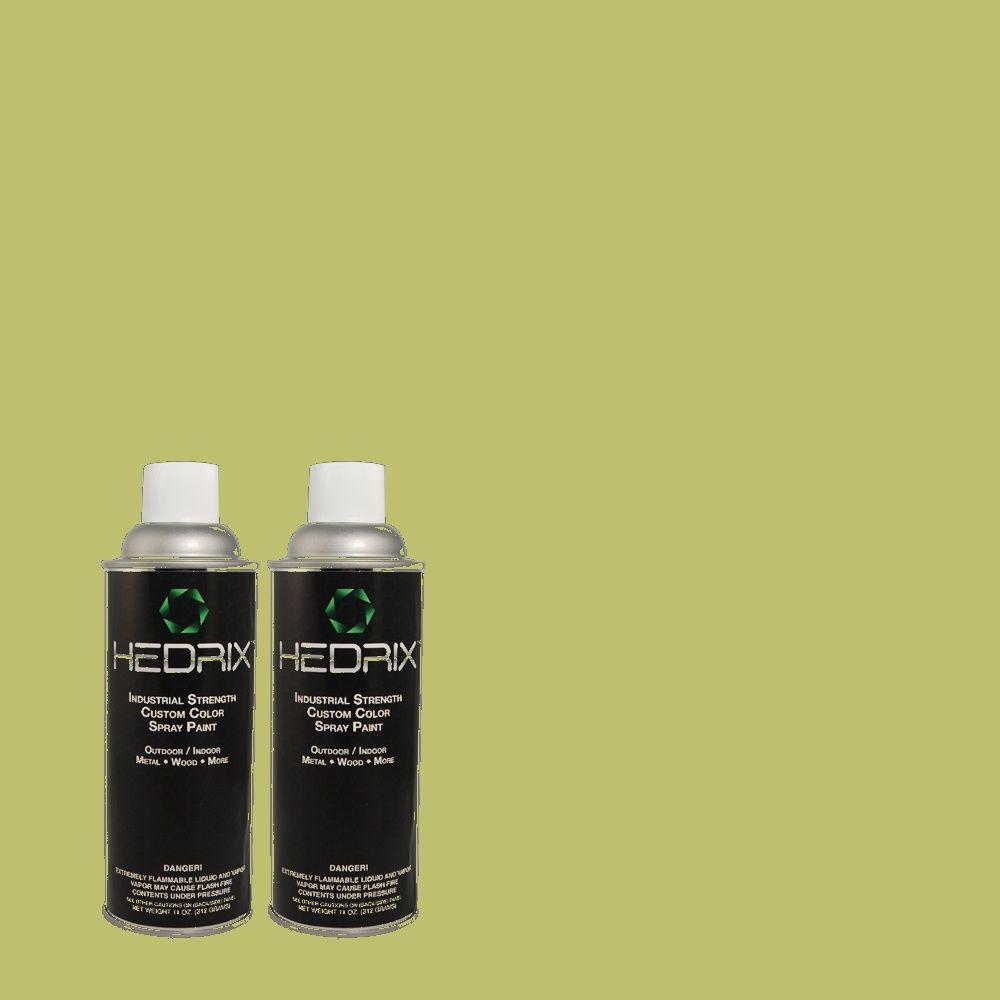 Hedrix 11 oz. Match of PPH-56 Lime Lollipop Low Lustre Custom Spray Paint (2-Pack)