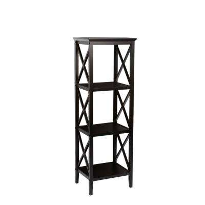 4- Shelf Espresso Etagere Open Bookcase