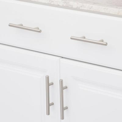 European Style 3 in. (76 mm) Center-to-Center Satin Nickel Bar Cabinet Pull (15-Pack)