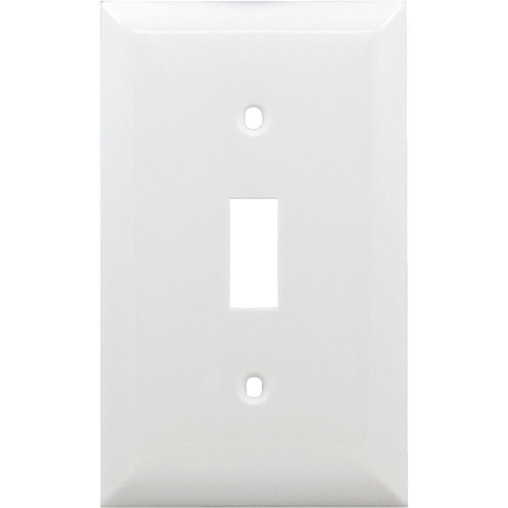 1 Toggle Switch Nylon Wall Plate - White