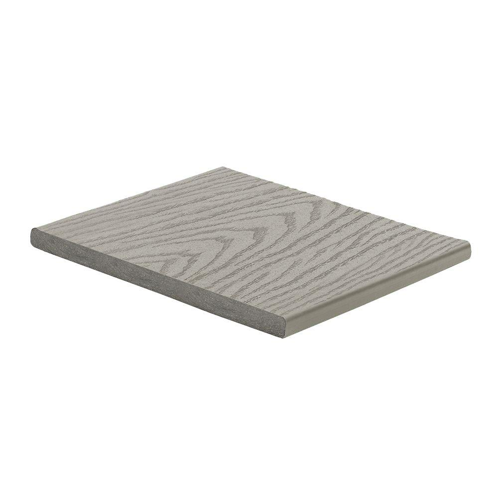 Trex select 1 in x 12 in x 12 ft pebble grey capped for Composite deck boards reviews