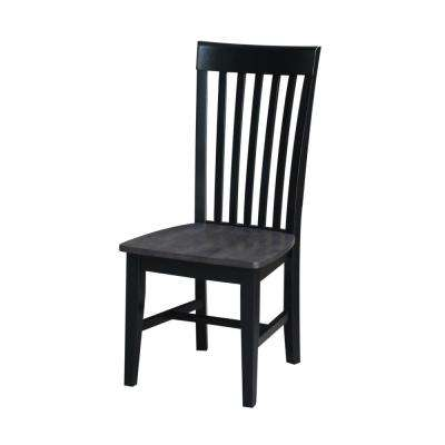 Black/Coal Tall Mission Chair (Set of 2)