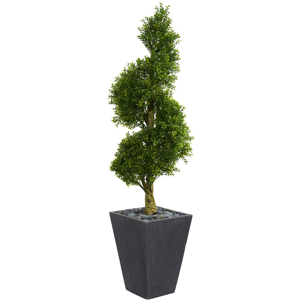 Topiary Spiral Trees: Nearly Natural 5 Ft. High Indoor/Outdoor Boxwood Spiral