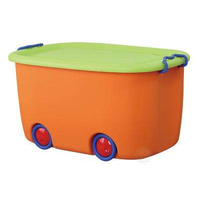Orange and Green Mobile Toy Box