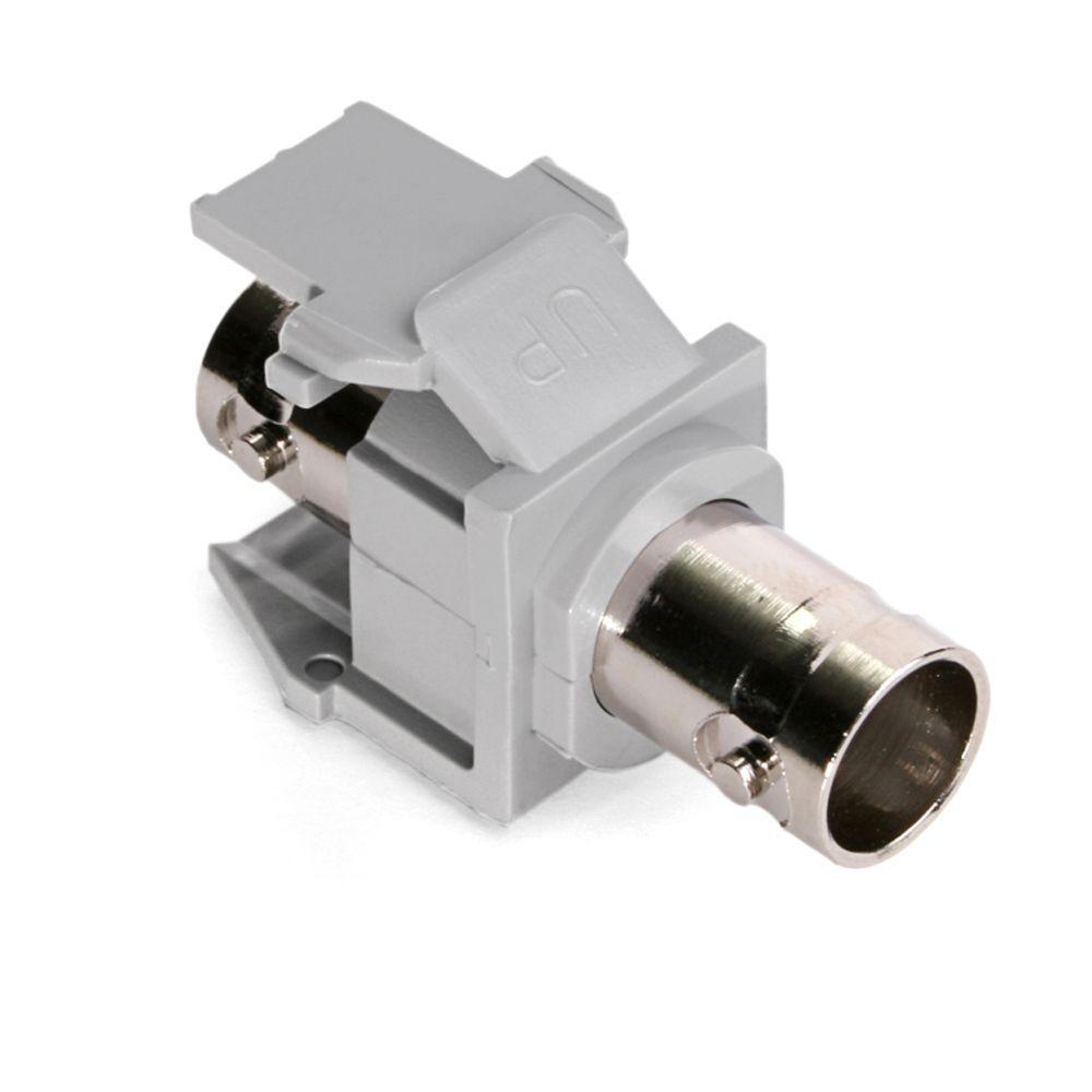 QuickPort Grey BNC Nickel-Plated Adapter