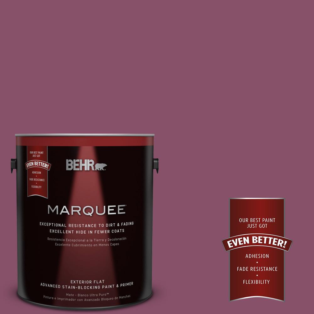 BEHR MARQUEE 1-gal. #M120-7 Raspberry Crush Flat Exterior Paint