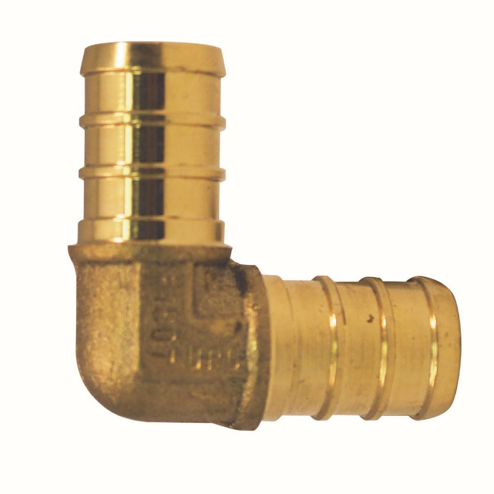 1/2 in. Brass PEX Barb 90° Elbow Jar (40 Pack)