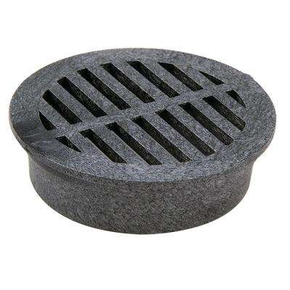 4 in. Plastic Round Black Foam Polyolefin Grate