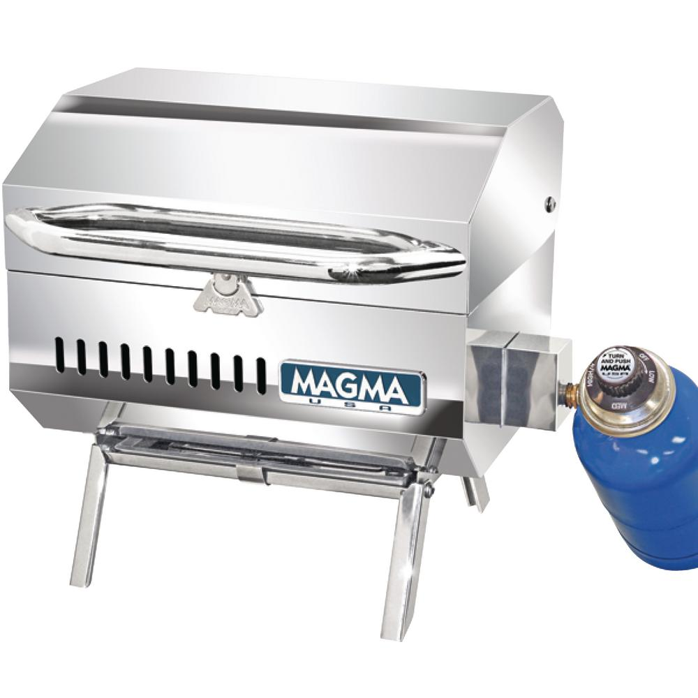 Magma Trailmate Connoisseur Series Portable Propane Gas Barbecue Grill in Stainless Steel