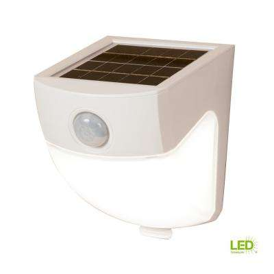 120-Degree White Motion Activated Sensor Outdoor Solar Powered Wedge Security Light