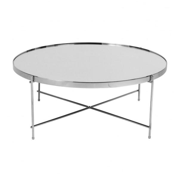 Amelia 13 in. Chrome Steel Coffee Table