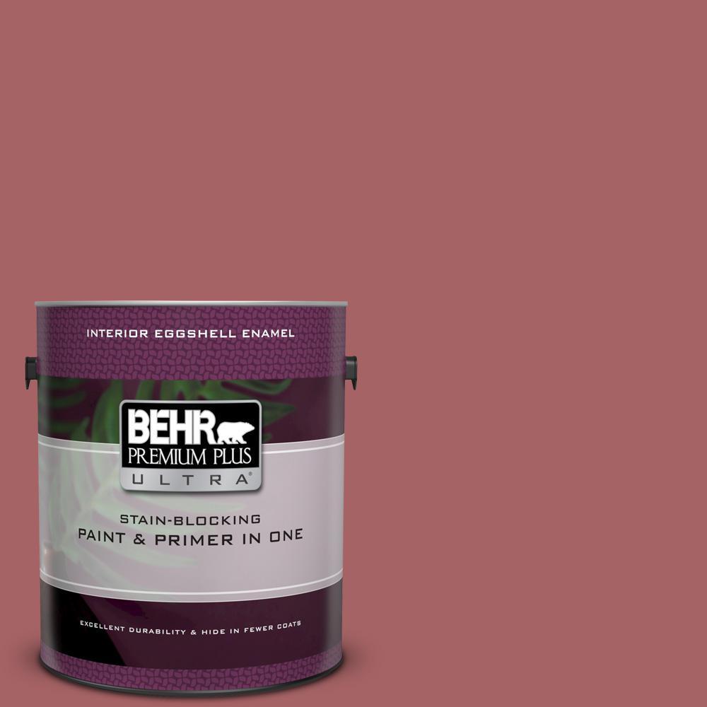 Behr Premium Plus Ultra 1 Gal Ppu1 06 Rose Marquee Eggshell Enamel