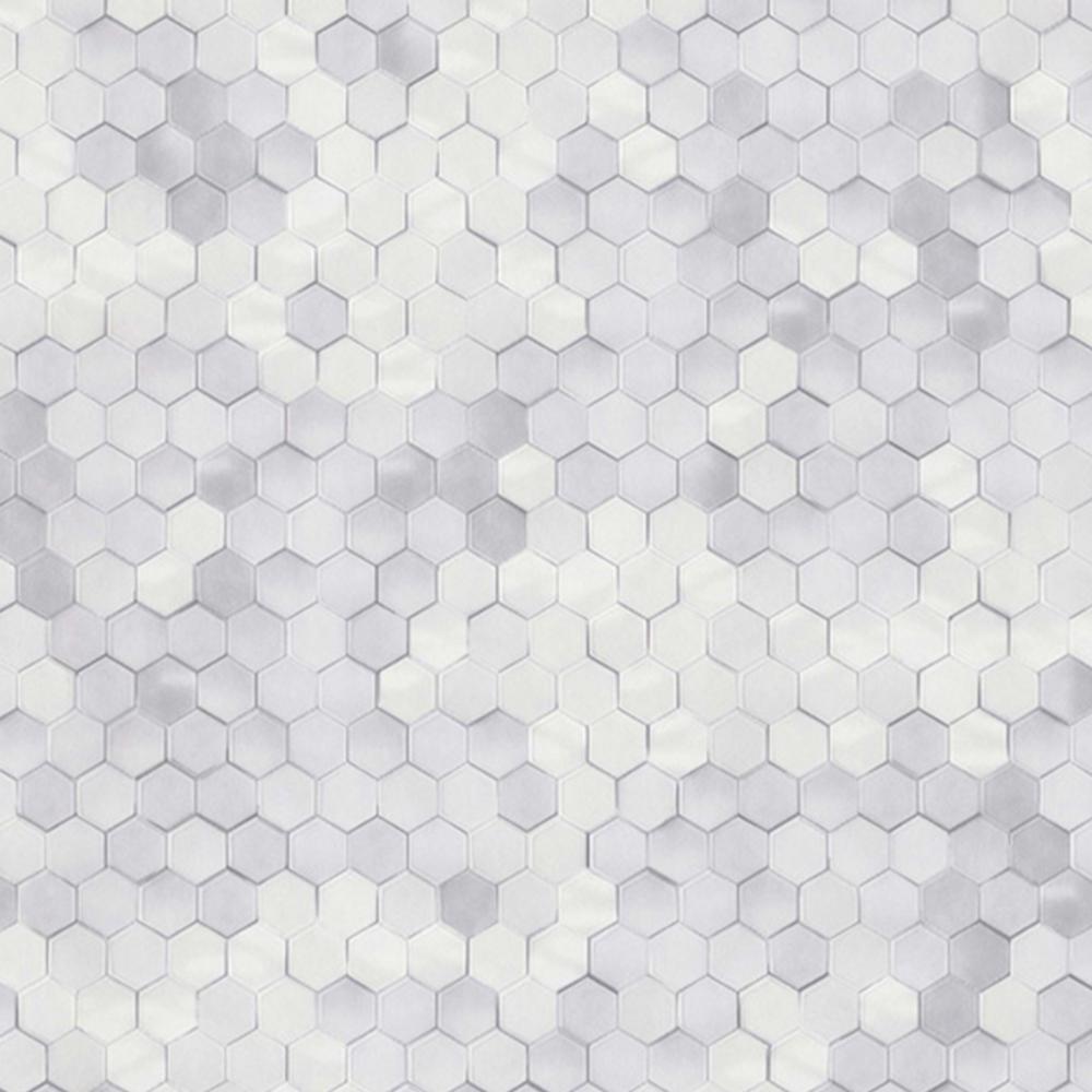 White Shimmering Hexagons
