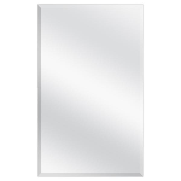 16 in. W x 26 in. H Frameless Recessed or Surface-Mount Bathroom Medicine Cabinet