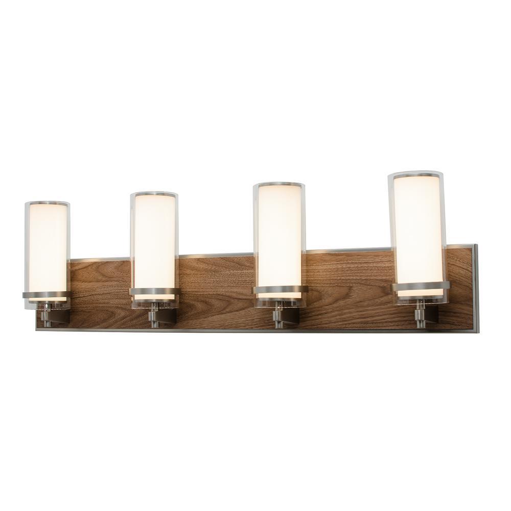 Arden 30-Watt Satin Nickel Integrated LED Bath Light