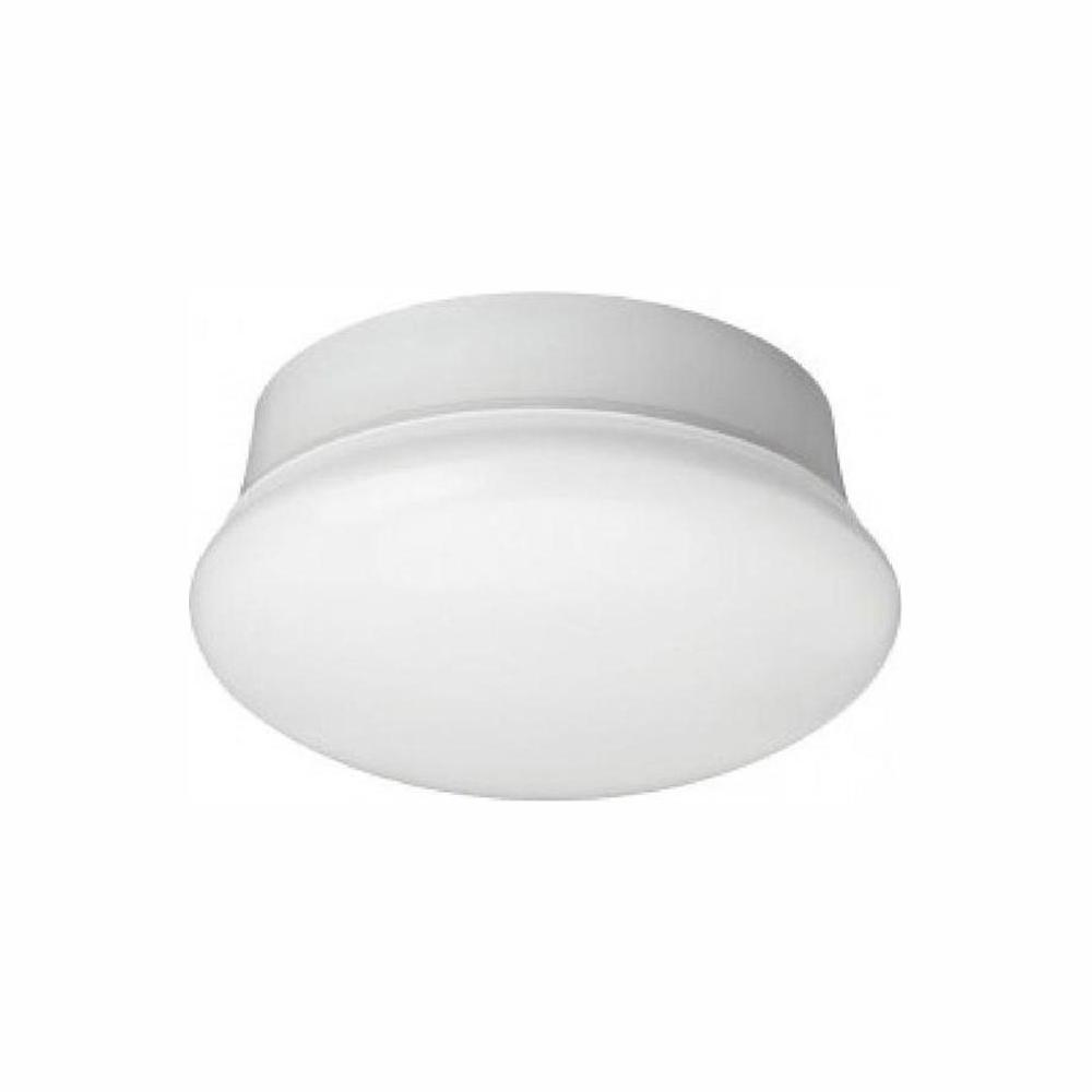 Commercial Electric Spin Light 7 in. White LED Flush Mount 5000K Day White 830 Lumens Non-Dimmable