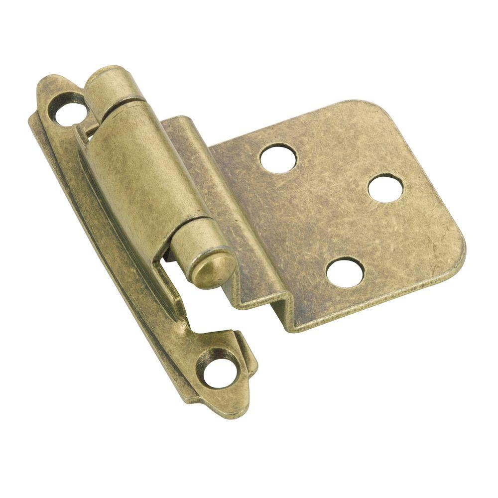 Richelieu Hardware Traditional Semi-Concealed 70 mm Antique English Self-Closing Hinge