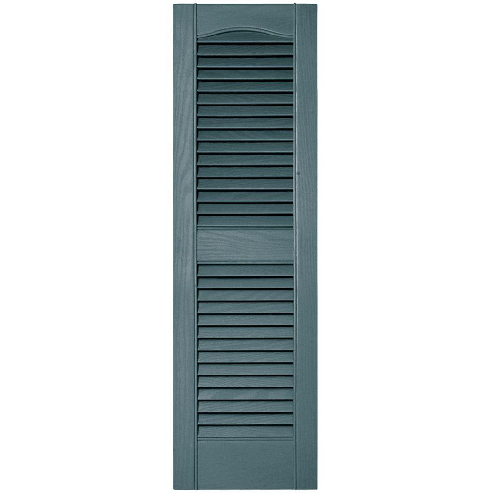 Builders Edge 12 In X 39 In Louvered Vinyl Exterior