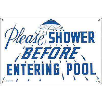 Residential or Commercial Swimming Pool Signs, Please Shower