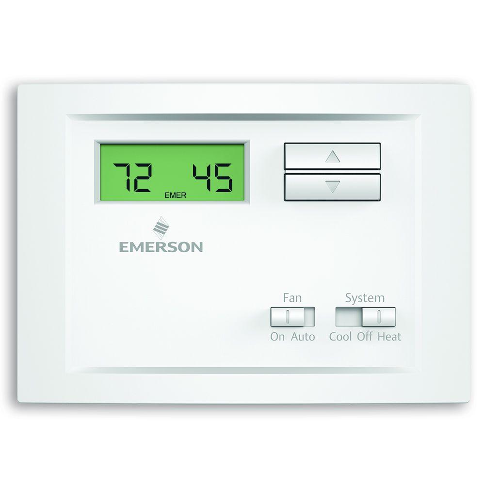 Emerson Single Stage Non-Programmable Thermostat on
