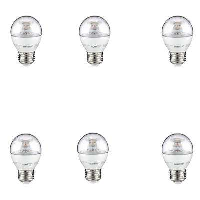 40-Watt Equivalent Clear G16 Dimmable LED Light Bulb, Warm White (6-Pack)