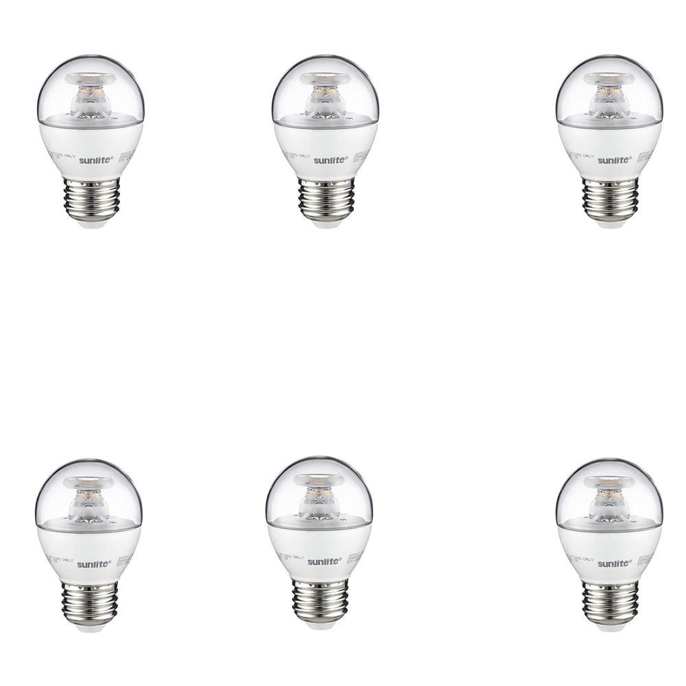Sunlite 40-Watt Equivalent Clear G16 Dimmable LED Light Bulb, Warm White (6-Pack)
