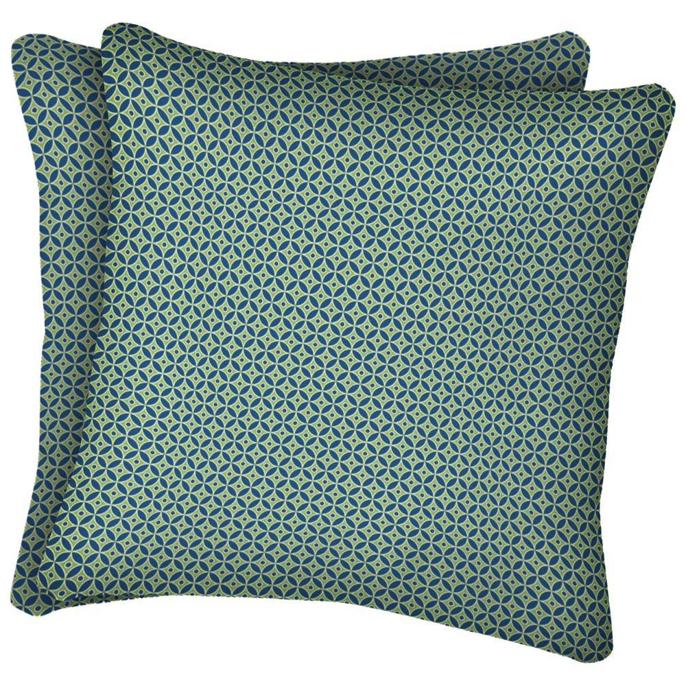 null Chevdiva Square Outdoor Throw Pillow (2-Pack)-DISCONTINUED