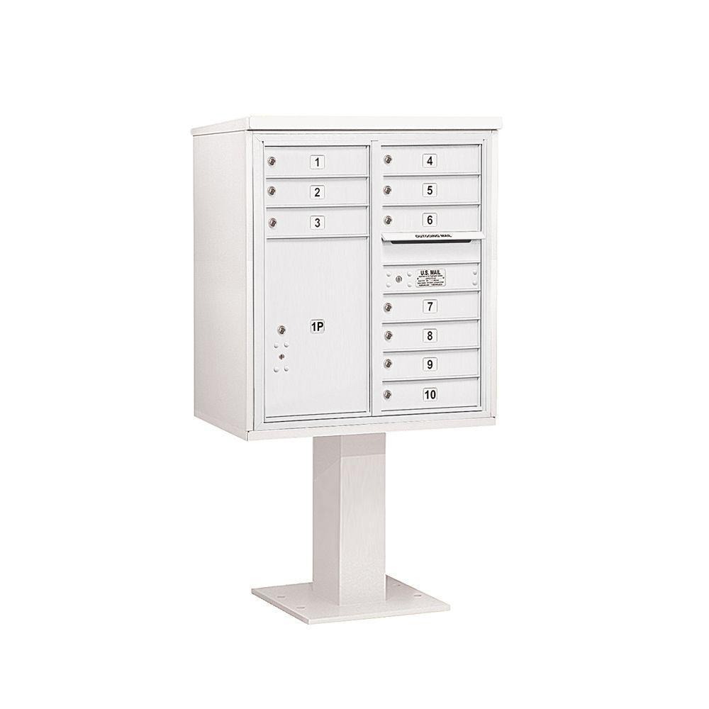 3400 Series 62-1/8 in. 9 Door High Unit White 4C Pedestal
