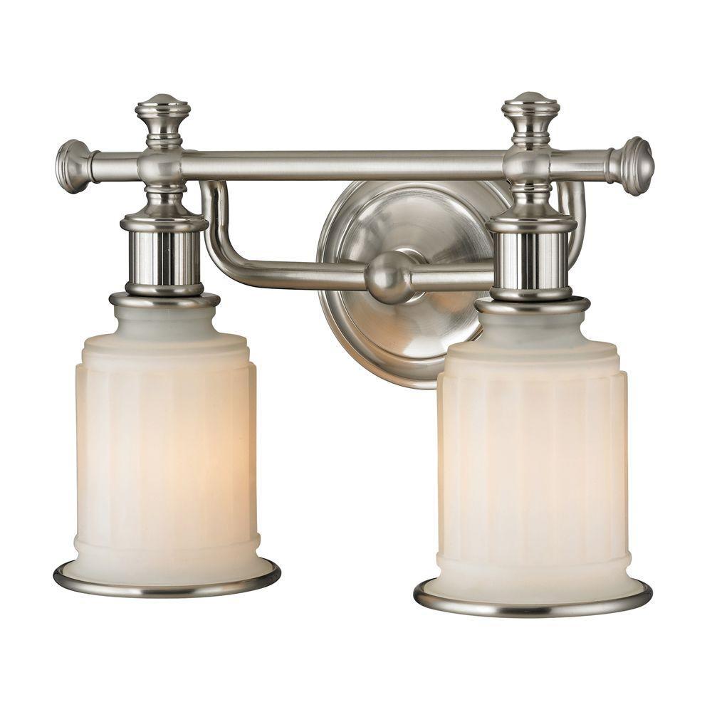 Kildare 2-Light Brushed Nickel LED Bath Light