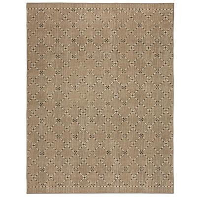 Daario Grey 5 ft. x 8 ft. Tan Tribal Area Rug