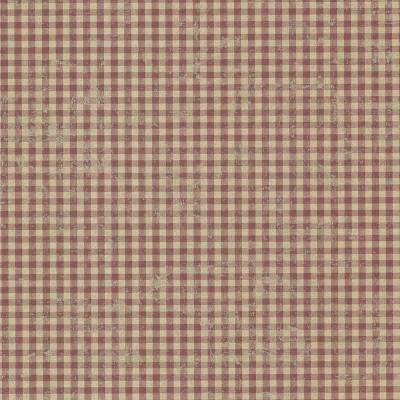 Greer Burgundy Gingham Check Paper Strippable Roll Wallpaper (Covers 56.4 sq. ft.)