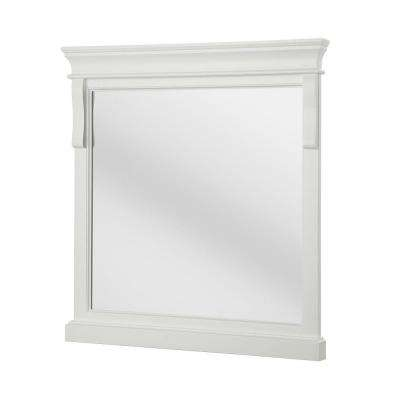 Naples 30 in. x 32 in. Framed Wall Mirror in White