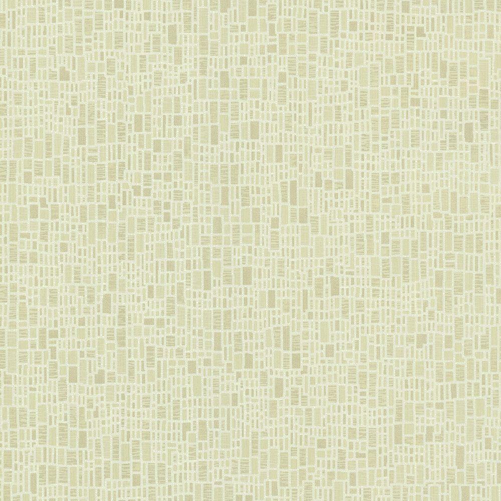 Brewster Cella Green Geometric Wallpaper Sample 2686-20932SAM