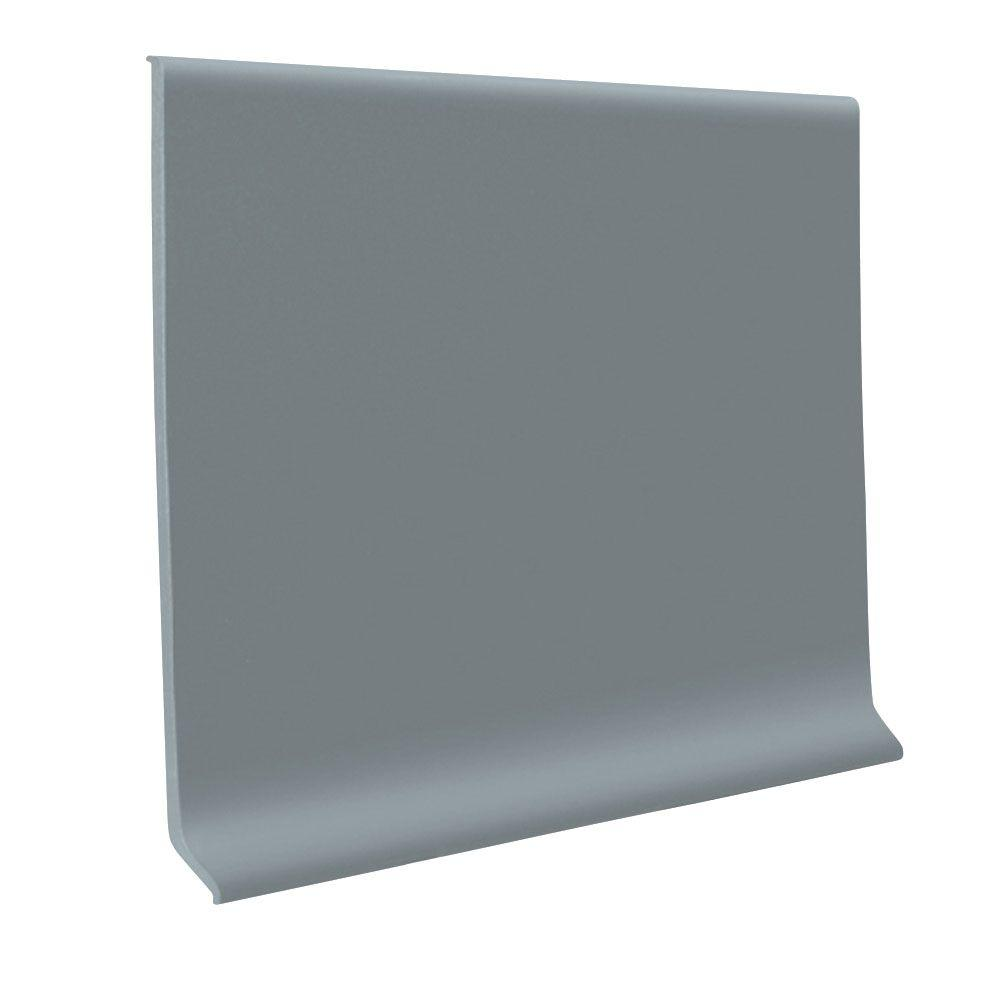 ROPPE Pinnacle Steel Gray 4 in. x 120 ft. x 1/8 in. Rubber Wall Cove Base Coil