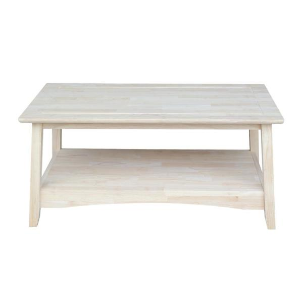 International Concepts Bombay 39 In Unfinished Medium Rectangle Wood Coffee Table Ot 4tc The Home Depot