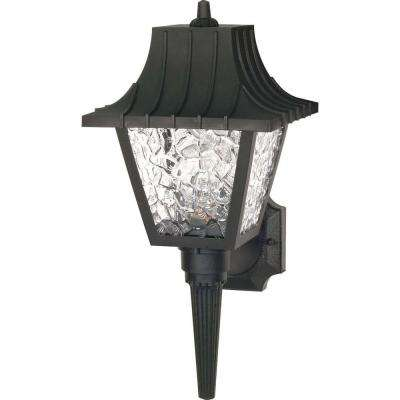 Tony 1-Light Black Outdoor Wall Mount Sconce