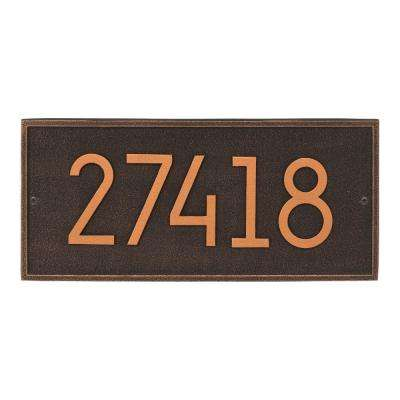 Hartford Modern Personalized Rectangle Wall Plaque