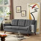 Beguile Gray Upholstered Fabric Sofa