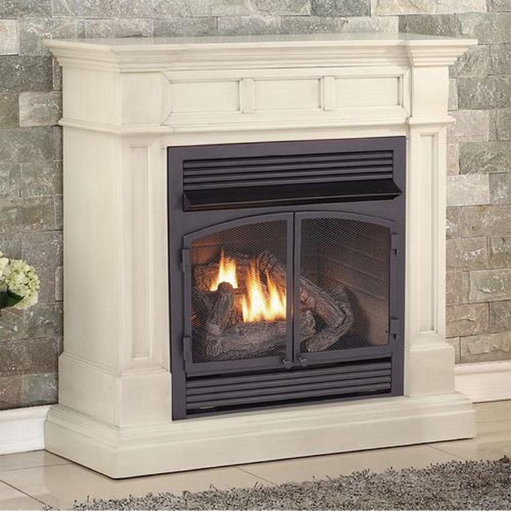 Duluth Forge 45 in. Ventless Dual Fuel Gas Fireplace in ...