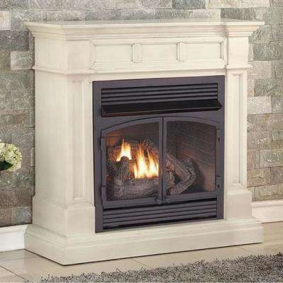 45 in. Ventless Dual Fuel Gas Fireplace in Antique White with Remote Control
