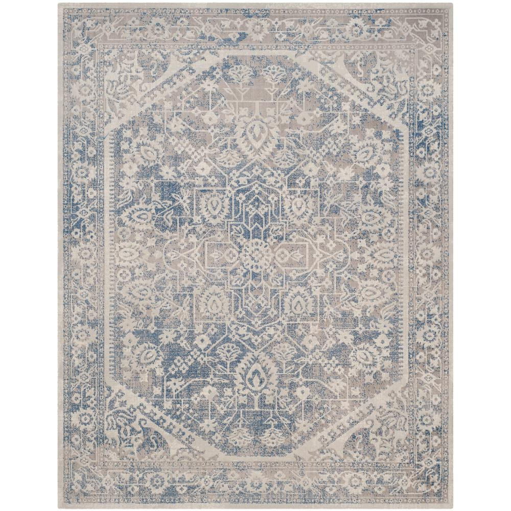 Safavieh Patina Gray Blue 8 Ft X 10 Ft Area Rug Ptn318a