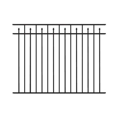 Brilliance Standard-Duty 4-1/2 ft. H x 6 ft. W Black Aluminum Pre-Assembled Fence Panel