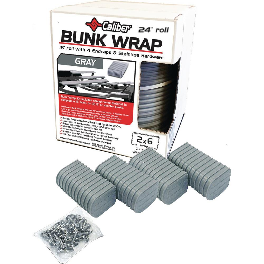 Caliber 2 in  x 6 in  Caliber Bunk Wrap Kit, Gray